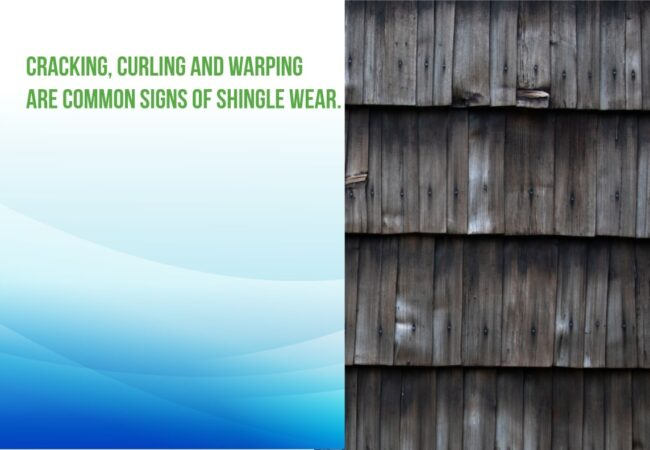 cracking and curling are signs of shingle wear