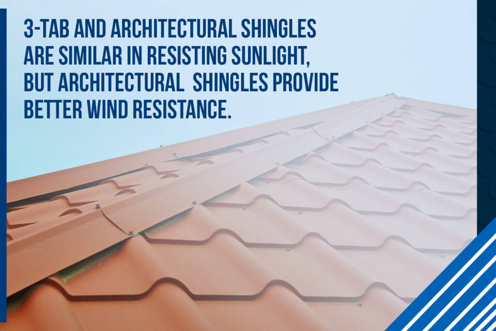 3-tab and architectural shingles are similar