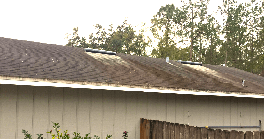 What Causes Discoloration On Roof Shingles Perry Roofing Contractors